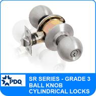 PDQ SR Series Cylindrical Lock (Ball Knob) - Grade 3