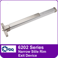 PDQ 6202 Series Narrow Stile Rim Exit Devices - Grade 1