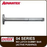 Advantex 04 Series No Latch Dummy Bar (Active Pushpad)