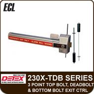 ECL-230X-TDB - 3 Point Top Bolt, Deadbolt and Bottom Bolt Exit Control Lock