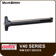Detex V40 - Rim Exit Device - For Hollow Metal and Wide Stile Doors