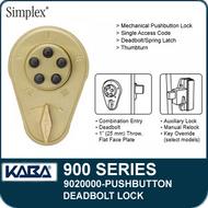 Simplex 900 Series 9020000 Mechanical Pushbutton Deadbolt Lock