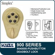 Simplex 900 Series 9040000 Mechanical Pushbutton Deadbolt Lock