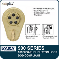 Simplex 900 Series 9290000 Mechanical Pushbutton Lock, DOD Compliant
