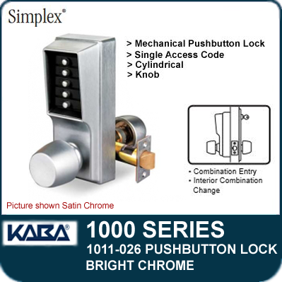 Simplex 1011 026 Mechanical Pushbutton Lock