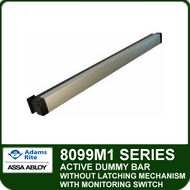 Adams Rite 8099M1 - Active Dummy Bar without Latching Mechanism with Switch