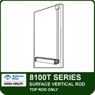 Adams Rite 8100T - Surface Vertical Rod Exit Device - Top Rod Only