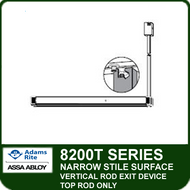 Narrow Stile Exit Devices | Adams Rite 8200T Surface Vertical Top Rod