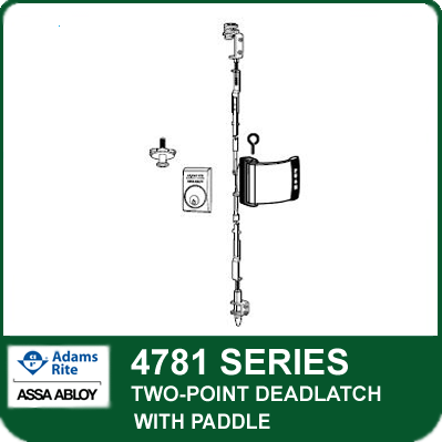 Adams Rite 4781 Two Point Deadlatch With Paddle