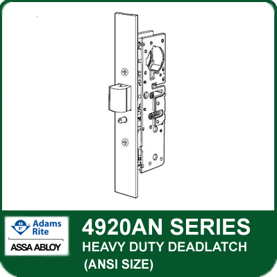 Adams Rite 4920an Heavy Duty Deadlatch Ansi Size