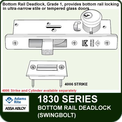 Adams Rite 1830 - Bottom Rail Deadlock (Swingbolt)