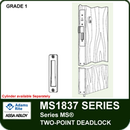 "Adams Rite MS1837 - Series MS® Two-Point Deadlock - Includes 4001-011 Strike, 36"" Cylinder Height"