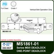 Adams Rite MS1861-01 Bottom Rail Deadbolt - One-Point Deadlock, Vertical Bolt Operation only