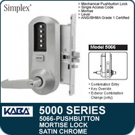 Simplex 5066 - Mechanical Pushbutton Mortise LocK
