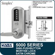 Simplex 5068 - Mechanical Pushbutton Mortise Lock