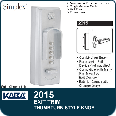Simplex 2015 Pushbutton Combination Entry Locks