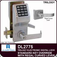 Alarm Lock Trilogy DL2775 - Standard Key Override with Regal Curved Lever