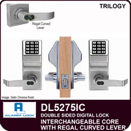 Alarm Lock Trilogy DL5275IC - Interchangeable Core with Regal Curved Lever