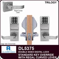 Alarm Lock Trilogy DL5375 - Standard Key Override with Regal Curved Lever