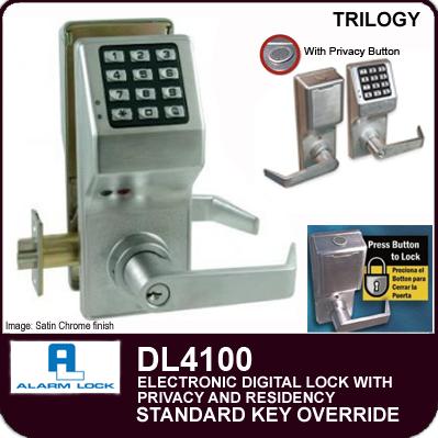 Alarm Lock Trilogy Dl4100 Electronic Digital Locks