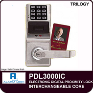 Alarm Lock Trilogy PDL3000IC - ELECTRONIC DIGITAL PROXIMITY LOCKS - Interchangeable Core