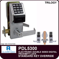 Alarm Lock Trilogy PDL5300 - ELECTRONIC DOUBLE SIDED DIGITAL PROXIMITY LOCKS - Standard Key Override