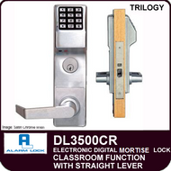 Alarm Lock Trilogy DL3500CR - ELECTRONIC DIGITAL MORTISE LOCKS - Straight Lever Classroom Function