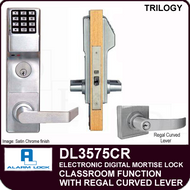 Alarm Lock Trilogy DL3575CR - ELECTRONIC DIGITAL MORTISE LOCKS - Regal Curved Lever Classroom Function