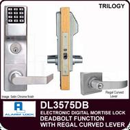 Alarm Lock Trilogy DL3575DB - ELECTRONIC DIGITAL MORTISE LOCKS - Regal Curved Lever Deadbolt Function