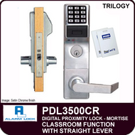Alarm Lock Trilogy PDL3500CR - ELECTRONIC PROXIMITY MORTISE LOCKS - Straight Lever Classroom Function