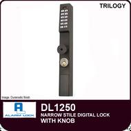 Alarm Lock Trilogy DL1250 - NARROW STYLE LOCK - With Knob
