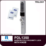 Alarm Lock Trilogy PDL1350- NARROW STYLE PROXIMITY LOCK - With Knob