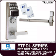 Alarm Lock Trilogy ETPDL Series - EXIT TRIM PROXIMITY LOCK - With Straight Lever
