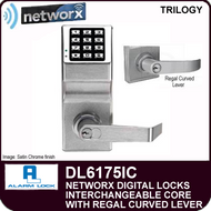Alarm Lock Trilogy DL6175IC - NETWORX DIGITAL LOCKS - Interchangeable Core with Regal Curved Lever