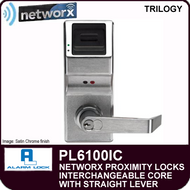 Alarm Lock Trilogy PL6100IC - NETWORX PROXMITY DIGITAL LOCKS - Interchangeable Core with Straight Lever