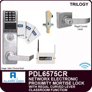 Alarm Lock Trilogy PDL6575CR - NETWORX ELECTRONIC PROXIMITY DIGITAL MORTISE LOCKS - Regal Curved Lever Classroom Function