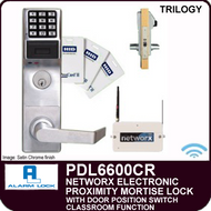 Alarm Lock Trilogy PDL6600CR - NETWORX ELECTRONIC PROXIMITY DIGITAL MORTISE LOCKS - Straight Lever Classroom Function with Door Position Switch