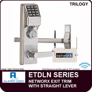 Alarm Lock Trilogy ETDLN Series - NETWORX EXIT TRIM - Straight Lever