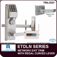 Alarm Lock Trilogy ETDLN Series - NETWORX EXIT TRIM - Regal Curved Lever