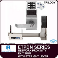 NETWORX KEYPAD AND PROXIMITY EXIT TRIM  Straight Lever - Alarm Lock Trilogy ETPDN Series