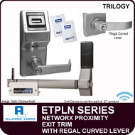 Alarm Lock Trilogy ETPLN Series - NETWORX PROXIMITY EXIT TRIM - Regal Curved Lever