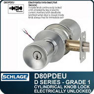 Schlage D80PDEU- Heavy Duty Commercial Electrically Unlocked Knob Lock
