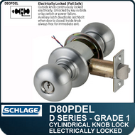 Schlage D80PDEL- Heavy Duty Commercial Electrically Locked Knob Lock