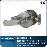 Schlage ND85PD - Heavy Duty Faculty Restroom Lever Lock, Single Cylinder