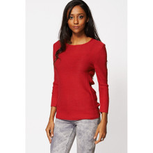 Modern Outfitters | Red Slash Back Long Jumper Top