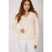 Modern Outfitters | Ladies Fluffy Peach Jumper
