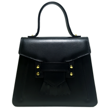 72 Smalldive | Top Handle Fringed Clasp Handbag Black