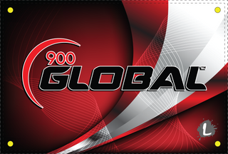 900 Global Red Curve Dye Sublimated Banner