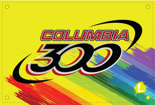 Columbia 300 Paint Brush Palette Dye Sublimated Banner