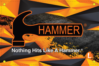 Hammer Orange Polygon Dye Sublimated Banner